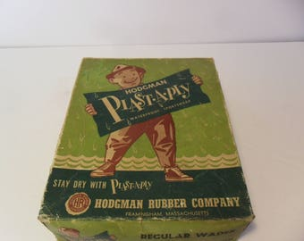 Vintage Hodgman Plast-A-Ply Waders~ Size Large~No. 614~1950's