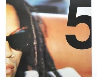 LENNY KRAVITZ - 5 Album Cover Art Print Flat Poster 12 x 12
