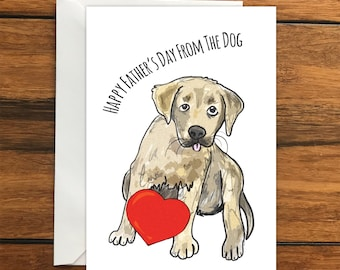 Happy Father's Day From The Dog Blank greeting card A6