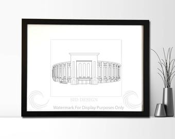 Yankee Stadium Sketch, Picture, Framed Picture, Digital Art