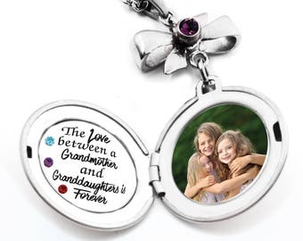 Mothers Jewelry Locket, Personalized Mother's Necklace, Engraved Mom Quote, Children Gift to Grandma, Children's Photo, Stainless Steel