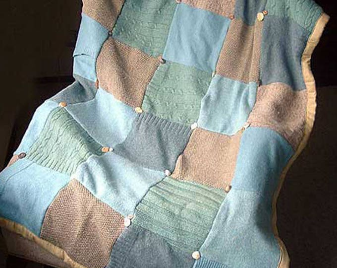 """My """"Cape Cod"""" Wool Sweater Quilt — I can make one similar for you!"""