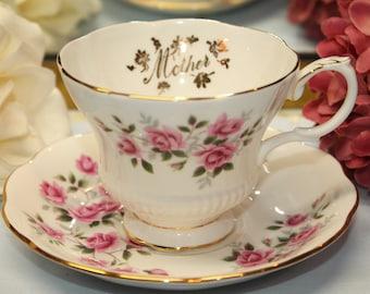 """Royal Albert Bone China Teacup and Saucer Set.  """"Mother"""""""