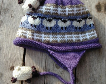 Blue Kid's Sheep Hat