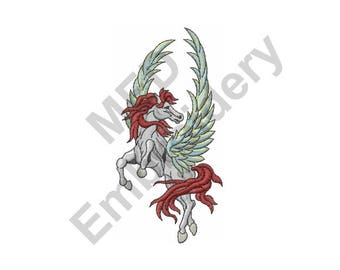 Winged Horse - Machine Embroidery Design, Pegasus