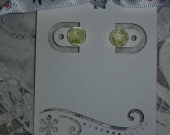 Pale Green Stud Earrings