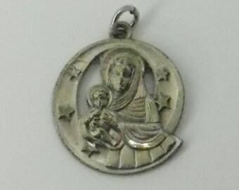 Sterling Silver Virgin Mary- Regina Medal