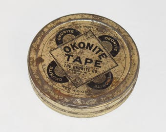 Vintage Okonite Electric Friction Tape in Original Tin Can