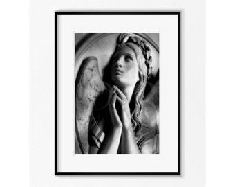 Angel Photography ,  Angel Art ,  Guardian Angel Praying , Angel Art Photo ,  Religious Art ,  Angel Gift , Guardian Angel