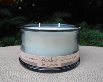 HONEYSUCKLE candle 2 strands to flavor extracts, recycled glass