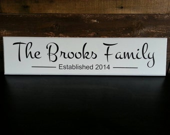 Marriage/Family Established Wood Sign