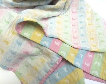Easter baby swaddle wrap blanket, baby swaddle, baby wrap, double gauze, baby girl gift