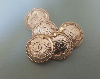 Lot of 5 Chanel Rare Buttons