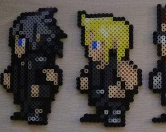 Final Fantasy 15 Noctis, Prompto, Ignis, Gladiolus Perler
