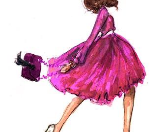 Fashion Illustration Art Print: Modern Mary Tyler Moore
