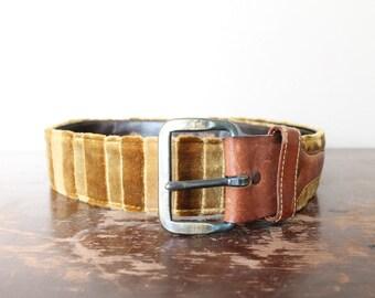 1970s Vintage Velour Belt