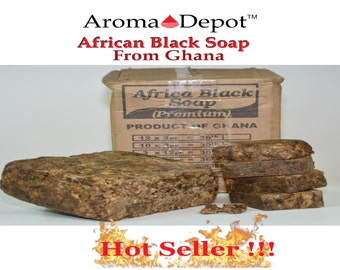 African Black Soap Bar 100% Raw Pure WHOLESALE 2 oz. up to 50 Lbs. From Ghana