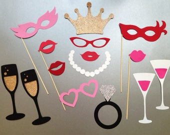 Bachelorette Party Photo Booth Prop Wedding Photo Booth Props Set of 15
