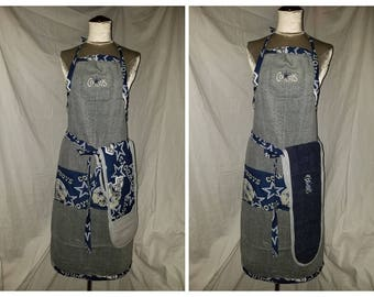 Dallas Cowboys Qwik-Draw apron with double oven mitt and lots of pockets