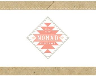 PreMade Logo - Vector Logo - PreDesigned Logo - NOMAD Logo Design - Tribal Logo - First Nations Logo - Navajo Logo - Vintage Logo