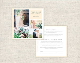 Wedding Photography Print Release Form - Photographer Print Release Template - Copyright Form for Photographers - INSTANT DOWNLOAD