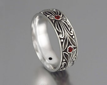 The COUNT 14k white gold wedding band
