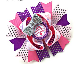 Birthday Hair Bow, Birthday Bow, Birthday Hair Clip, Birthday HairBow, Birthday Girl Bow, Happy Birthday Bow, Birthday Party Bow
