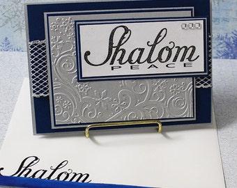 Hanukkah, Shalom - Handmade Greeting Card