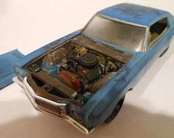 Scale Model ,Classicwrecks Car, Ace Ventura ,Monte Carlo,BlueChevy,ModelHobby