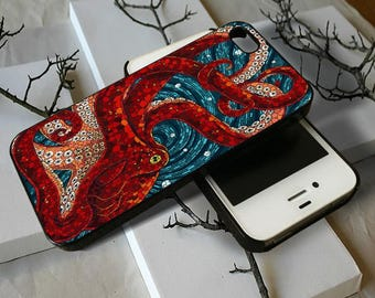 Mosaic Octopus Art   -  for phone iphone 4 4s 5 5s 5c 6 6s 7 8 x samsung galaxy s3 s4 s5 s6 s7 edge s8 plus cover case cases