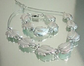 Vintage Aluminum Necklace and Bracelet Germany