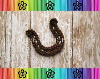 Horseshoe Applique - Crochet Pattern PDF - Detailed Photos
