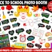 PRINTABLE Back To School Photo Booth Props-1st Day of School-School Photo Props-Printable School Props-Classroom Decor-Instant Download