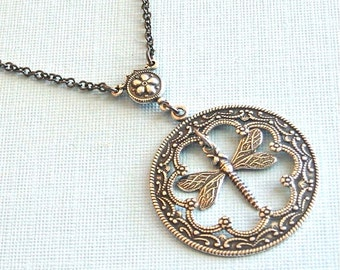 Silver Dragonfly Necklace -  Pendant, Dragonfly Jewelry, Nature Jewelry