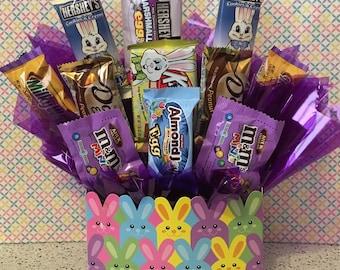Easter Candy Arrangement, Bunny, Easter arrangement, Easter Candy Bouquet