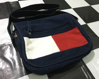 Vintage Tommy jeans bag tommy hilfiger flag logo color block crossbody bag Excellent condition