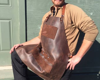 Leather Apron, Wood Workers, BBQ, Artists, Bartenders Apron