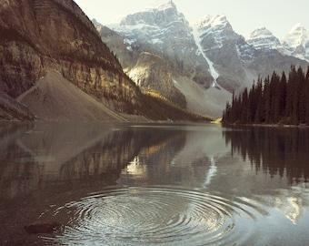 "Landscape Photography, Mountain Print, Nature Photography Print, Landscape Print, Rocky Mountains, Moraine Lake ""Ripples"""