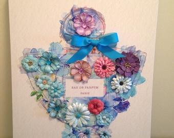 Embellished Floral Artwork