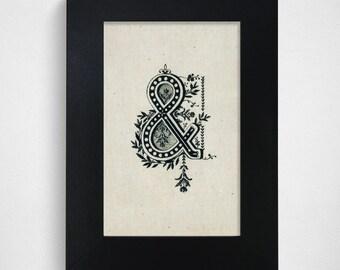 "SALE / Ready-to-Ship / Hand Drawn Original Monogram Letter & / 4x6"""