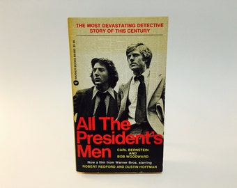 Vintage Pop Culture Book All The President's Men by Carl Bernstein& Bob Woodward Movie Tie-In Edition Paperback