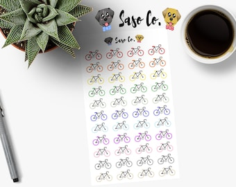 Multi-colored Bicycle / Cycling Planner Stickers