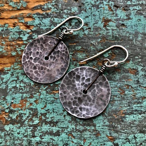 Small Sterling Disk Earrings