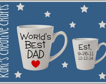 World's Best Dad Coffee Mug, Best Dad Ever Coffee Cup, Personalized cup, Father's Day Mug, Dad, Daddy, Father
