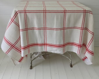 NCT1112 Red Stripe Tablecloth Linen for Cafe Tables