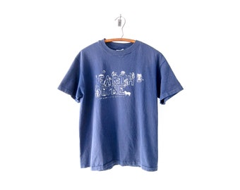 "50% of Proceeds go to Planned Parenthood! Vintage ""Earthshine"" T-Shirt, Vintage Navy Blue T-Shirt, Extremely Wholesome 90's Tee, Size M/L"