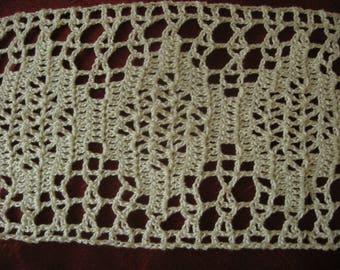 handmade crochet Ecru border