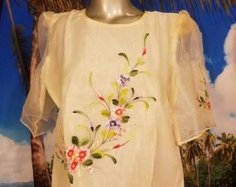 Filipiniana ladies barong blouse 2XL