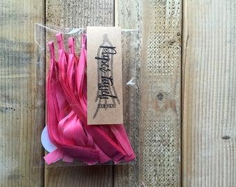 "Tissue Paper Tassels - 7"" tall - Party Decor - Graduation - Tassel Garland, Pick Your Colors, 4 Tassels per pack"