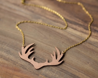 """Necklace Chain """"antler"""" in copper by dearest sister"""